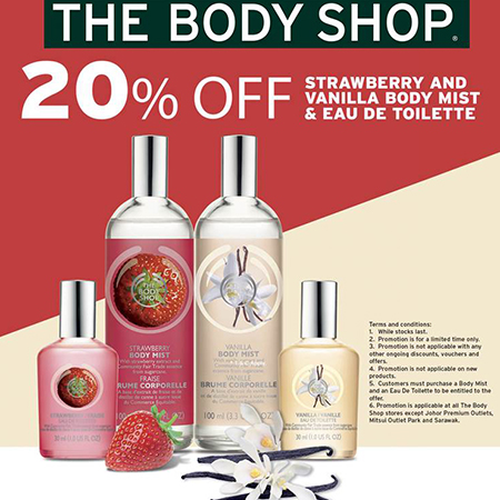 20% OFF Strawberry and Vanilla