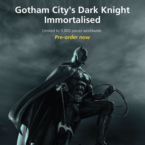 Gotham city's dark knight imoortalised